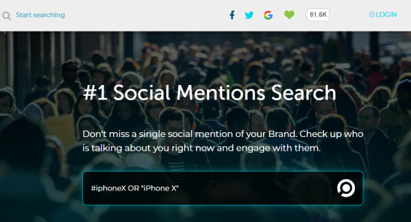 Social Mentions Search